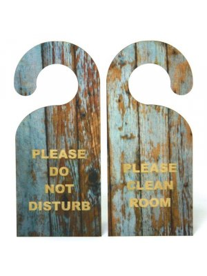 Printed Wooden Do Not Disturb Door Hooks