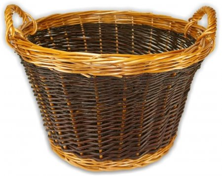 Large Golden Log Basket