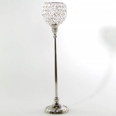 47cm Tall Crystal Candle Holders