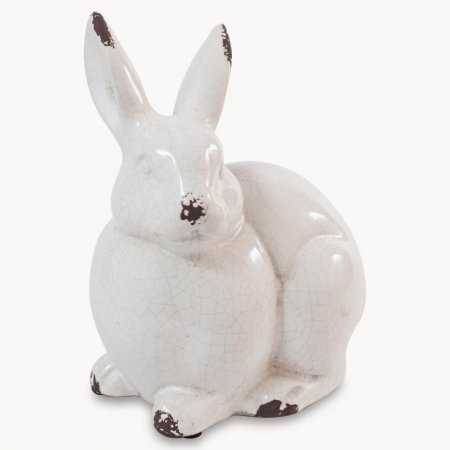 Birkdale Glazed Stone Rabbit
