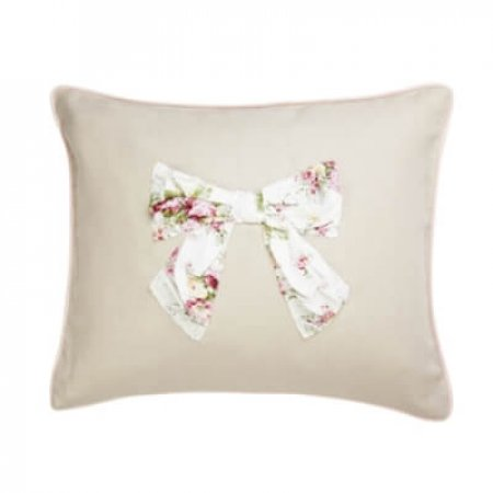 Vintage Floral Bow Cushion