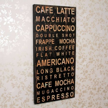 Cafe Latte Wall Plaque