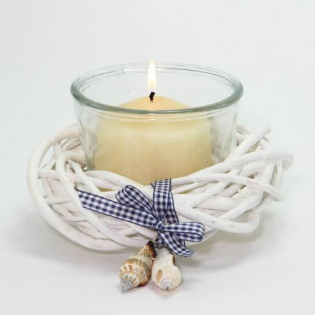 White Coastal Votive Holder