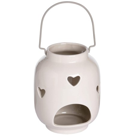 Ivory Heart Tealight Holder