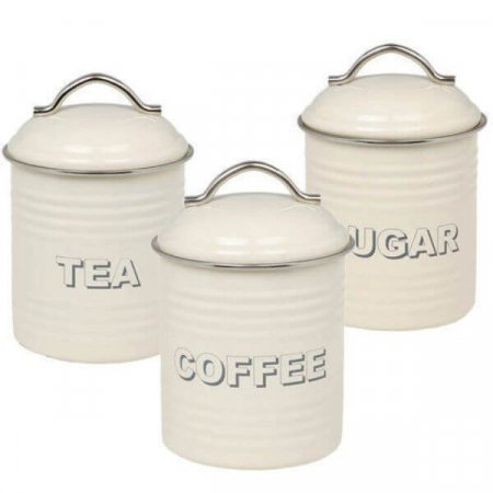 Cream Storage Canisters