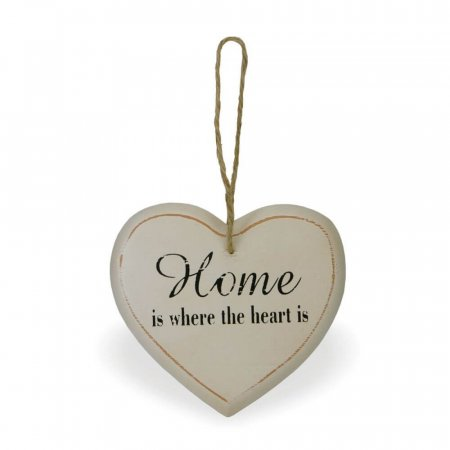 Decorative Wooden Heart - Home is where the heart is