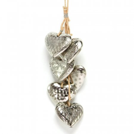 Gorgeous Bunch of Nickel Hearts