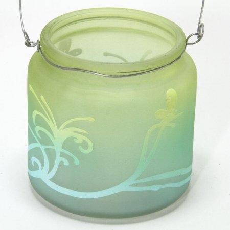 Hanging Votive Tealight Holder - Aqua
