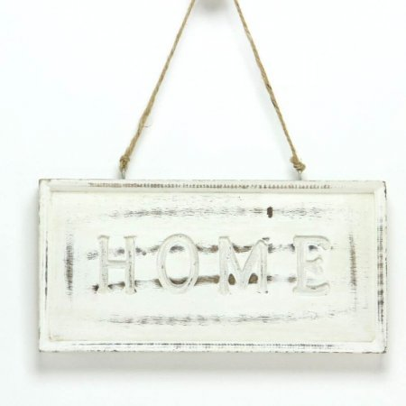 Hand Carved Wooden 'Home' Sign