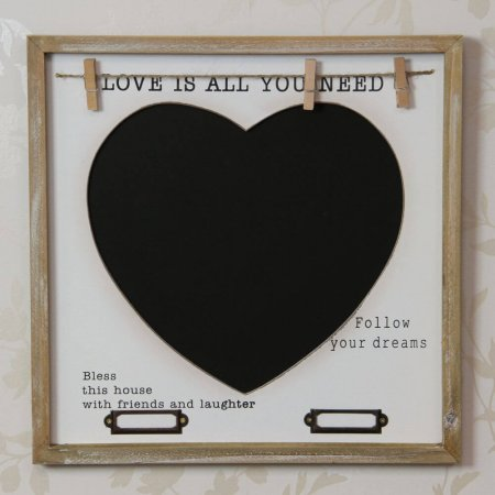 Love is all you need chalk board