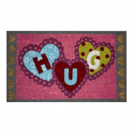 Hugs Doormat with Anti-Slip Rubber Backing