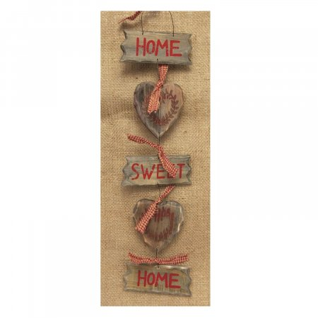 Home Sweet Home Decorative Hanging Wooden Hearts