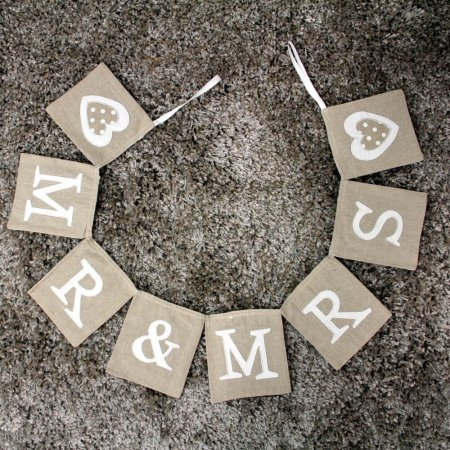 Mr and Mrs Wedding Bunting
