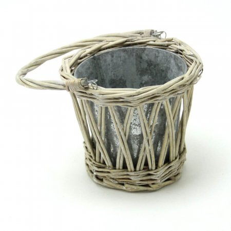 Radwick Single Galvanised & Willow Planter