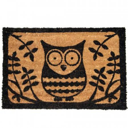 Printed Owl Doormat with Anti-Slip Rubber Backing