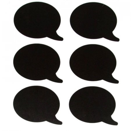 Chalkboard Labels - Speech Bubble Shape