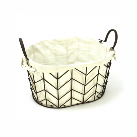 Lined Metal Basket - Small