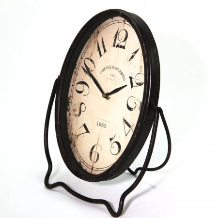 Vintage Oval Shelf Mantel Clock