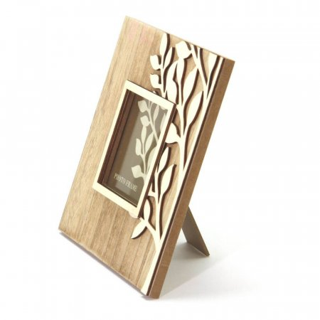 Natural Wooden Tree Photo Frame, Side