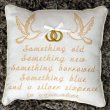 Somthing Old, Somthing New Wedding Cushion