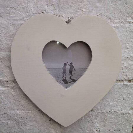 Wooden Heart Photo Frame