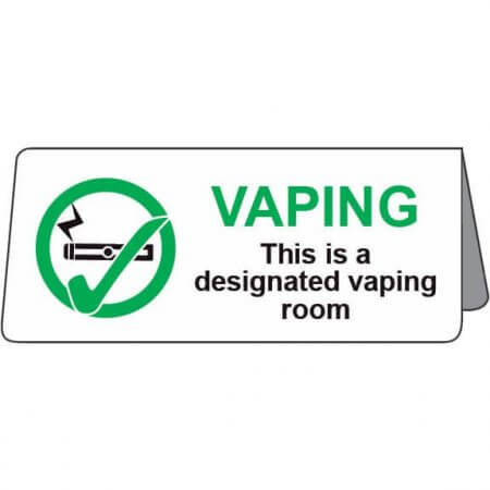 Designated Vaping Room - Tent Sign