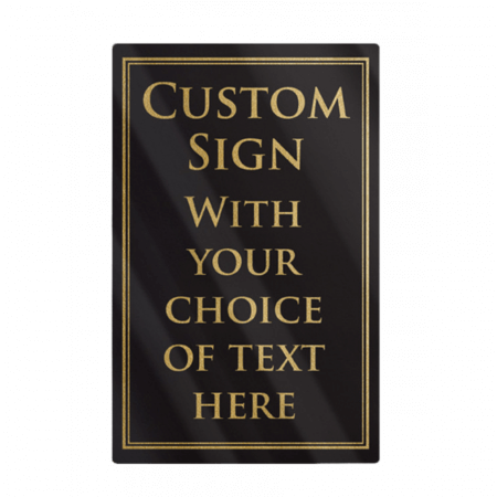 A4 Traditional Hospitality Notice Sign - Add Your Own Text