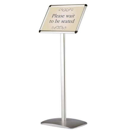 Decorative Menu Information Stand - Landscape - Rounded Corners