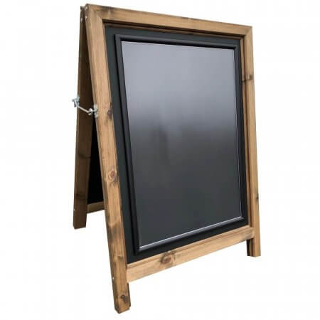 Windsor Wooden A-Board with Silver Snap Frames