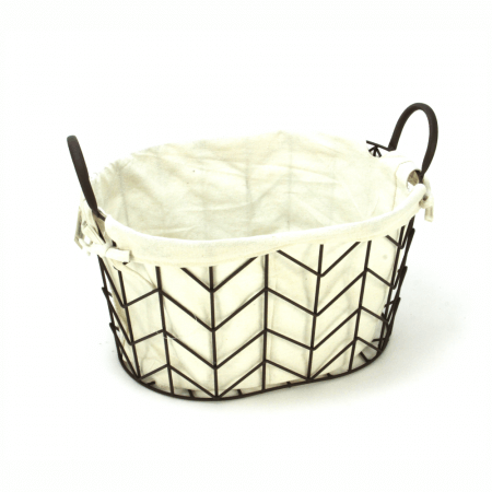 Lined Metal Basket - Medium