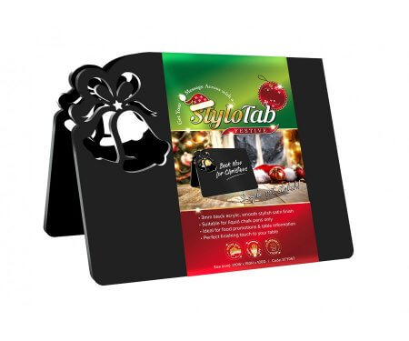Christmas Bell Table Tent Sign