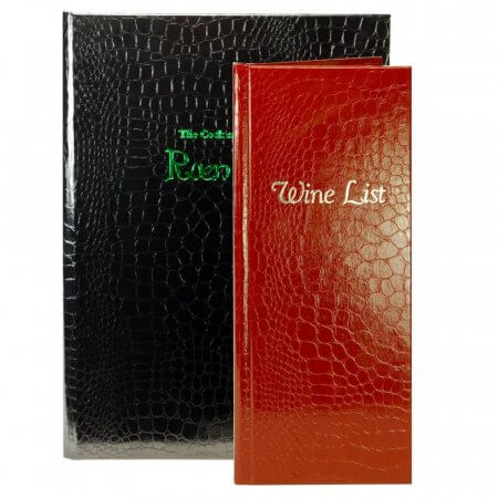 Croco Menu Covers
