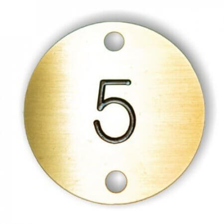 Brass Solid Table Numbers with Screws