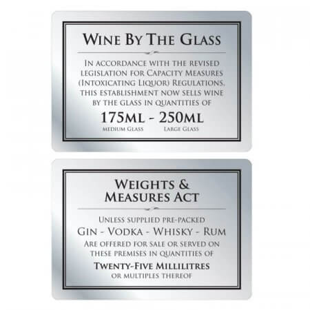 Brushed Silver Bar Signs
