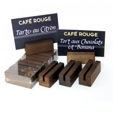 Dark Oak Small Menu Holders