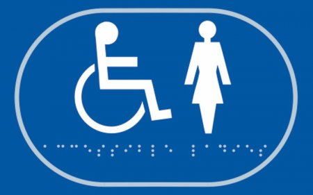 Disabled and Ladies Toilet Braille Sign