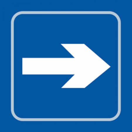 Right Arrow Braille Sign