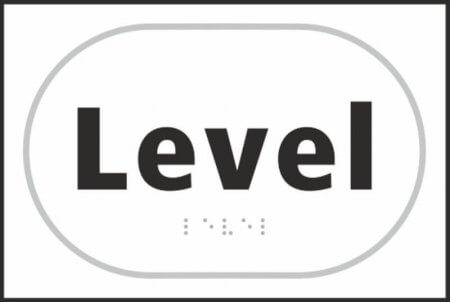 Level Braille Sign