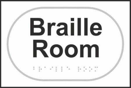 Braille Room Braille Sign