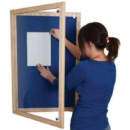 Hardwood Tamperproof Lockable Notice Boards