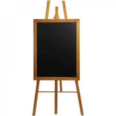 Teak easel with blackboard