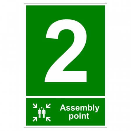 Fire Assembly Point Signs - Number 2
