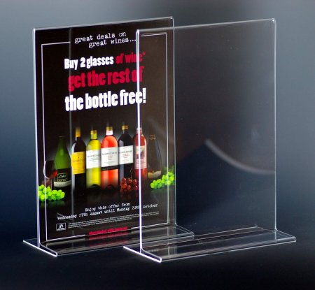 Acrylic Portrait Menu Holder