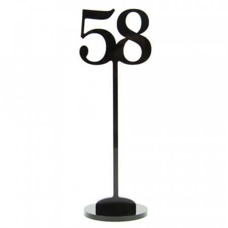 Acrylic Cut Out Table Number with Stand