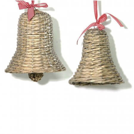 Willow Christmas Bell Decorations