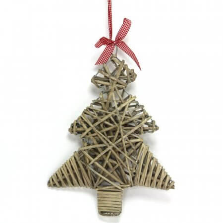 Willow Christmas Tree Decoration