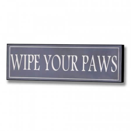 Wipe Your Paws Plaque