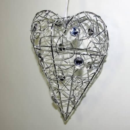 Crystal Wire Hearts