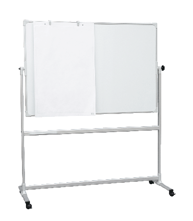 1500 x 1200mm Mobile Whiteboards with 360°Revolving Board