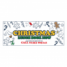 Fully Colour Printed Christmas Bauble Banner